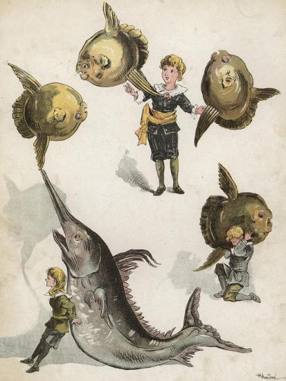 Fish Gymnastics-Richard Andre-Giclee Print