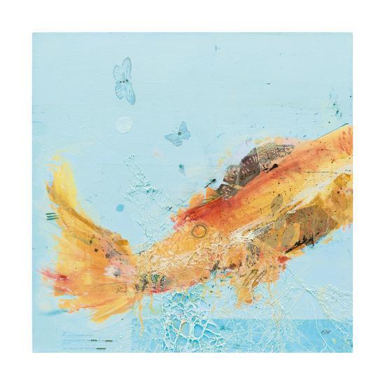 Fish in the Sea I Aqua-Kellie Day-Art Print