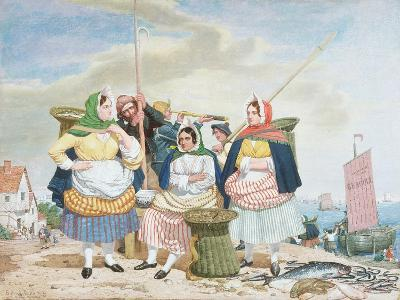 Fish Market by the Sea, c.1860-Richard Dadd-Giclee Print