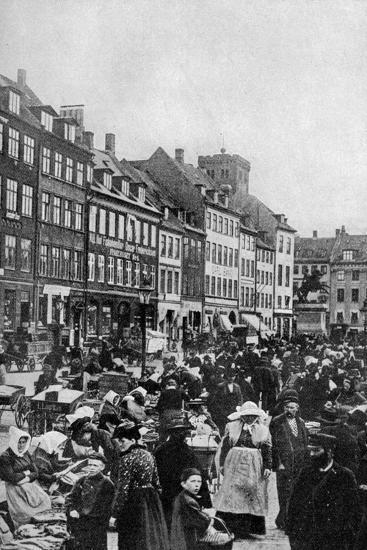Fish Market, Copenhagen, C1922--Giclee Print