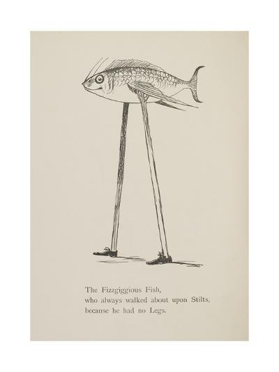 Fish On Stilts From Nonsense Botany Animals and Other Poems Written and Drawn by Edward Lear-Edward Lear-Giclee Print