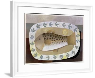 Fish on the Plate, 1996-Reg Cartwright-Framed Giclee Print
