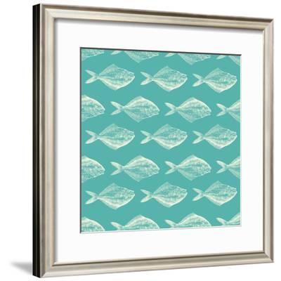 Fish Pattern-Ramona Murdock-Framed Art Print