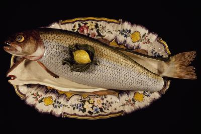 Fish Poacher with Tray and Lid, Porcelain, Nove Manufacture, Bassano, Veneto, Italy--Giclee Print