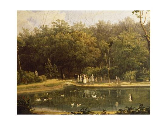 Fish-Pond in Real Bosco--Giclee Print