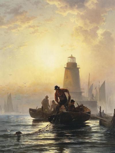 Fish Pond, Orient Bay, L. I, 1876-Edward Moran-Giclee Print