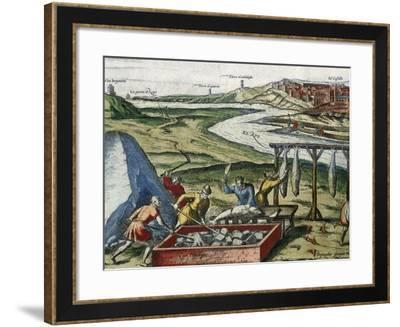 Fish Processing in Conil De La Frontera--Framed Giclee Print