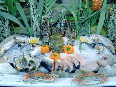 Fish Restaurant Display, Rethymnon, Crete, Greece-Peter Thompson-Photographic Print