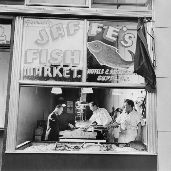 Fish Store in the Lower East Side, the Jewish Neighborhood of New York City. August 1942--Photo