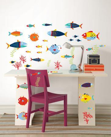 Fish Tales Wall Art Decal Kit
