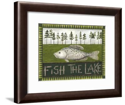 Fish the Lake-Cindy Shamp-Framed Art Print