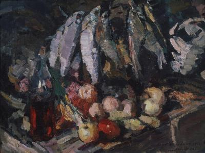 Fish, Vine and Fruits, 1916-Konstantin Alexeyevich Korovin-Giclee Print