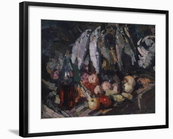 Fish, Vine and Fruits, 1916-Konstantin Alexeyevich Korovin-Framed Giclee Print