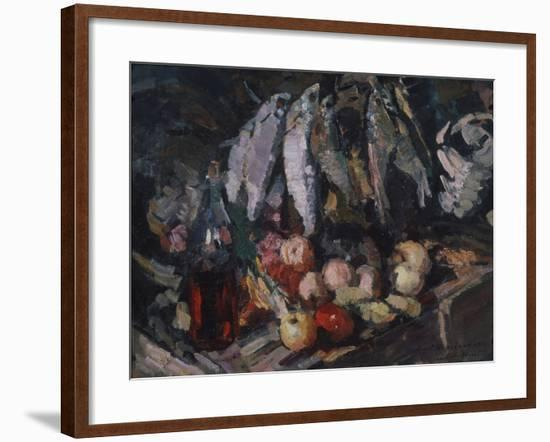 Fish, Vine and Fruits, 1916-Konstantin Alexeyevich Korovin-Framed Giclee Print