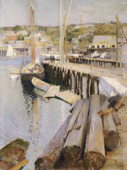 Fish Wharves, Gloucester, 1896-Willard Leroy Metcalf-Giclee Print