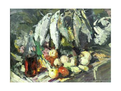 Fish, Wine and Fruit-Konstantin A^ Korovin-Giclee Print