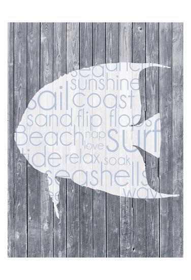 Fish Wood Panel-Lauren Gibbons-Art Print