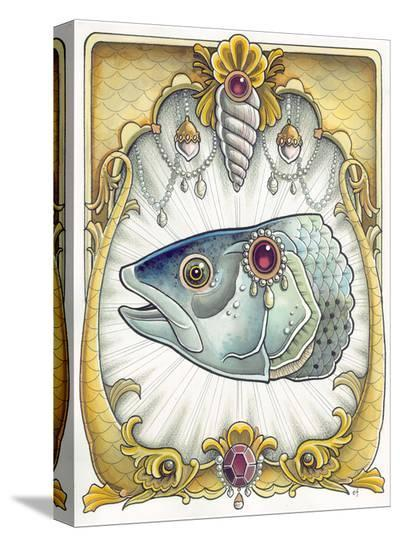 Fish-Erica Flannes-Stretched Canvas Print