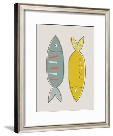 Fish-Nanamia Design-Framed Art Print
