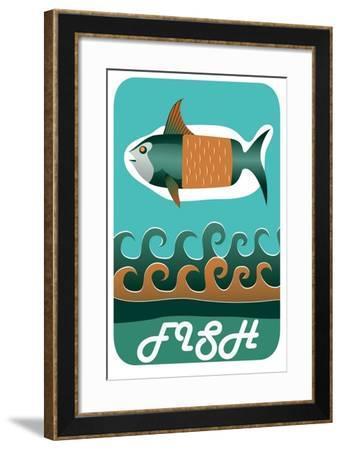 Fish- OddMary-Framed Art Print