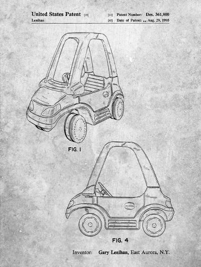 Fisher Price Toy Car Patent-Cole Borders-Art Print