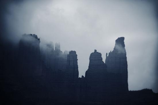 Fisher Towers in Fog, Utah-Keith Ladzinski-Photographic Print