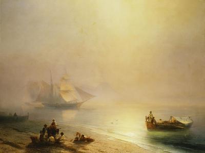Fisherfolk on the Seashore, The Bay of Naples-Ivan Konstantinovich Aivazovsky-Giclee Print