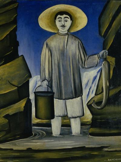 Fisherman Among the Rocks, 1906-Niko Pirosmani-Giclee Print
