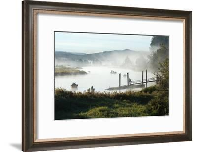 Fisherman Enjoy a Beautiful Foggy Morning Fishing-Vickie Lewis-Framed Photographic Print