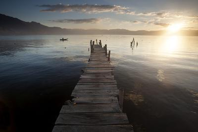 Fisherman, Lago Atitlan, Guatemala, Central America-Colin Brynn-Photographic Print