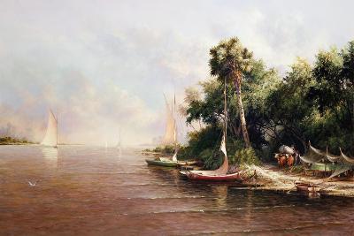 Fisherman Landing-Art Fronckowiak-Art Print