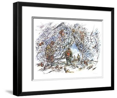 Fisherman Nets-Chaim Gross-Limited Edition Framed Print