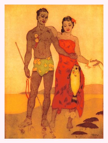 Fisherman of Hawaii-John Kelly-Giclee Print