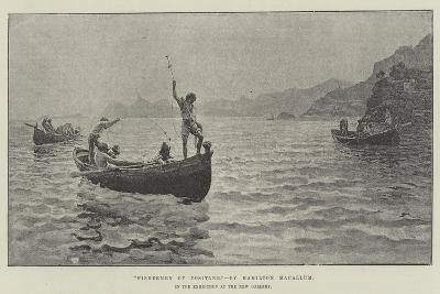 Fisherman of Positano, in the Exhibition at the New Gallery-Hamilton Macallum-Giclee Print