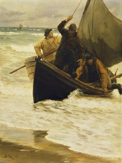 Fisherman Returning Home, Skagen, 1885-Peder Severin Kr?yer-Giclee Print