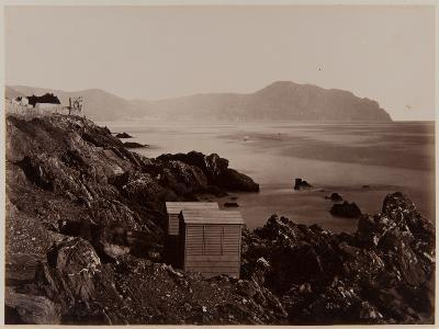 Fisherman's Cottages on the Beach of Nervi, 1870-80-August Alfred Noack-Photographic Print