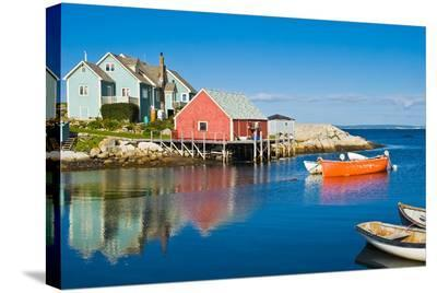 Fisherman's house Peggy's Cove--Stretched Canvas Print