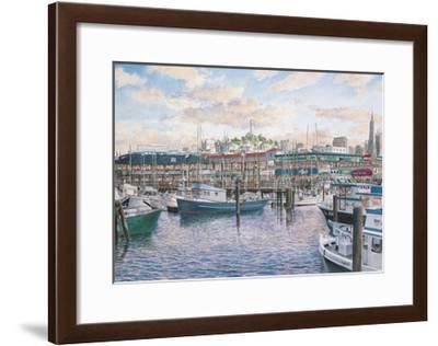 Fisherman'S Wharf Sunset-Stanton Manolakas-Framed Giclee Print