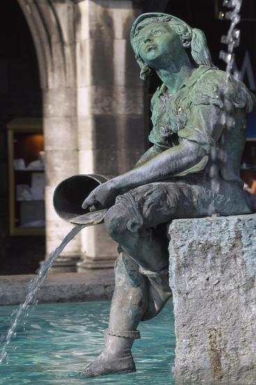 Fisherman, Statue in Bronze from Fountain of Fish, Marienplatz, Munich, Germany, 19th-20th Century--Giclee Print
