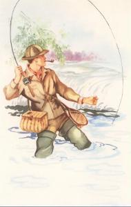 Fisherman with Pipe, Illustration