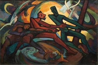 Fishermen, 1961-Emil Parrag-Giclee Print