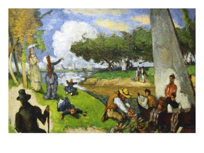 Fishermen - a Fantastic Scene-Paul C?zanne-Art Print