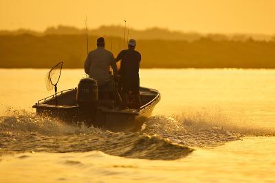 Fishermen Boating Toward the Laguna Madre, Texas, USA-Larry Ditto-Photographic Print