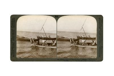 Fishermen on the Sea of Galilee, Palestine, 1900-Underwood & Underwood-Giclee Print