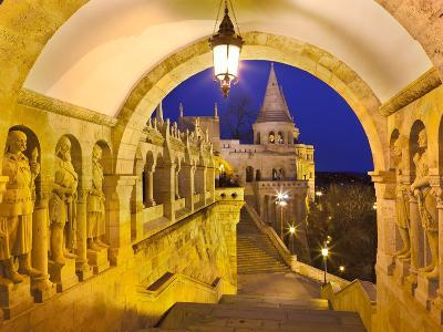 Fishermen's Bastion (Halaszbastya) at Dusk, Buda, Budapest, Hungary, Europe-Stuart Black-Photographic Print