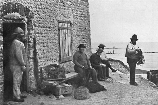 Fishermen, Sheringham, Norfolk, 1912-Unknown-Photographic Print