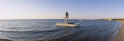 Fishermen Sitting on a Fishing Boat, Ocracoke Island, Hyde County, North Carolina, USA--Photographic Print