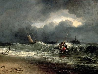 Fishermen Upon a Lee-Shore in Squally Weather-J^ M^ W^ Turner-Giclee Print
