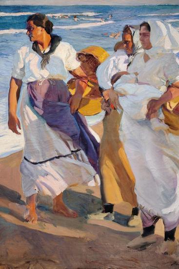 Fisherwomen from Valencia-Joaqu?n Sorolla y Bastida-Giclee Print