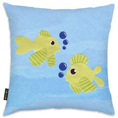 Fishies Throw Pillow--Home Accessories